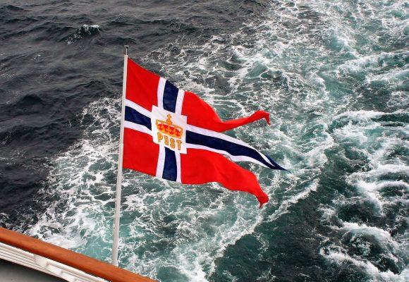 Hurtigruten Flagge-Postschiff-05